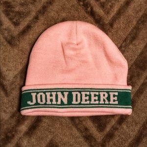 Pink John Deere Beanie